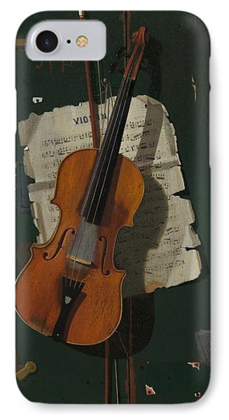 Violin iPhone 8 Case - The Old Violin by Mountain Dreams