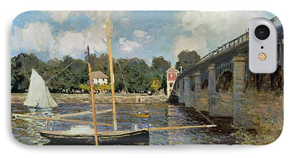 Boat iPhone 8 Case - The Seine At Argenteuil by Claude Monet