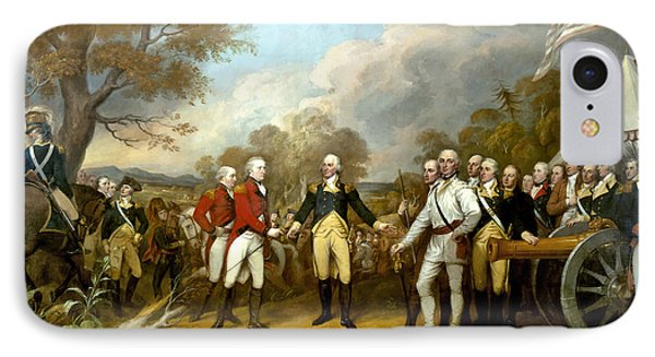 American iPhone 8 Case - The Surrender Of General Burgoyne by War Is Hell Store