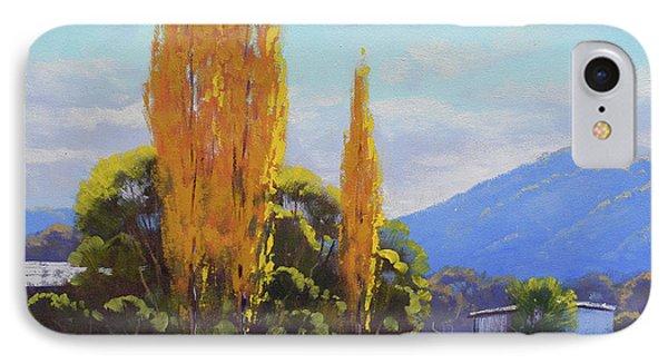 Tumut Autumn Poplars IPhone Case
