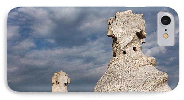 Whimsical Chimneys - Antoni Gaudi Casa Mila Rooftop IPhone Case