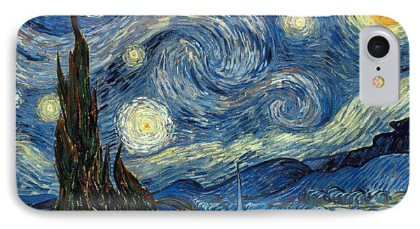 Impressionism iPhone 8 Case - Van Gogh Starry Night by Granger