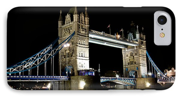 View Of The River Thames And Tower Bridge At Night IPhone Case