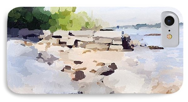 Wall And Beach At Ten Pound Island IPhone Case