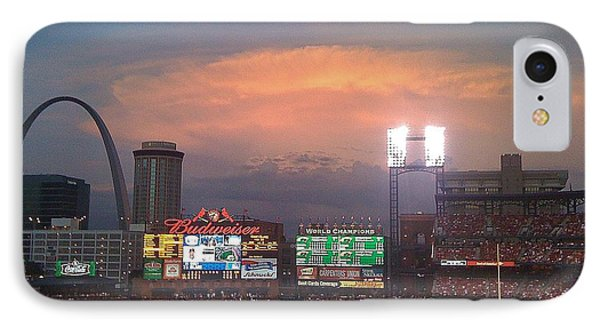 Warm Glow Over St. Louis Arch And Stadium IPhone Case