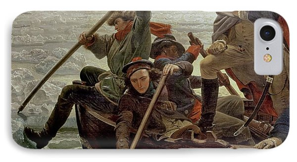 Boat iPhone 8 Case - Washington Crossing The Delaware River by Emanuel Gottlieb Leutze