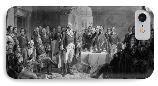 Washington Meeting His Generals IPhone Case