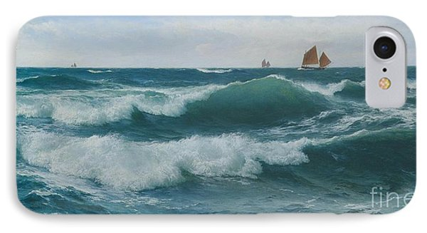 Waves Breaking In Shallow Waters IPhone Case