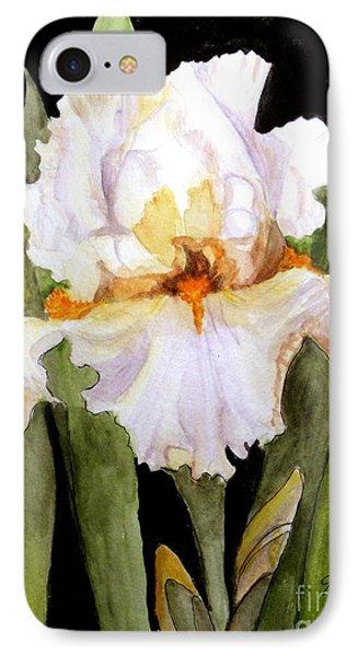 White Iris In The Garden IPhone Case