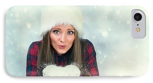 Knit Hat iPhone 8 Case - Winter Wonderland by Amanda Elwell