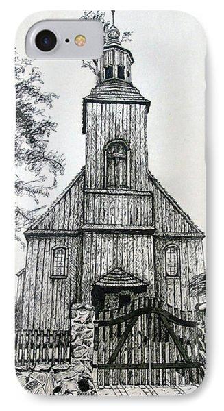 Wooden Church 2 IPhone Case