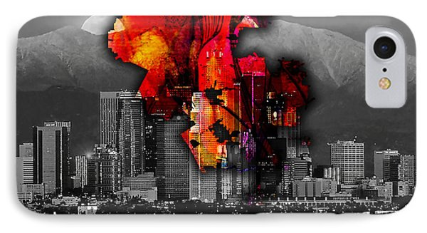 Los Angeles Map And Skyline IPhone Case