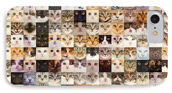 140 Random Cats IPhone Case