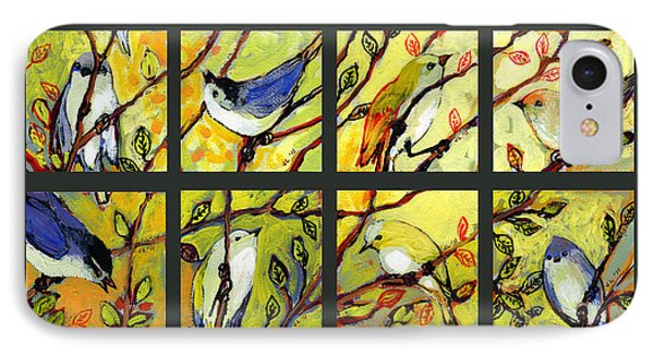 Collage iPhone 8 Case - 16 Birds by Jennifer Lommers