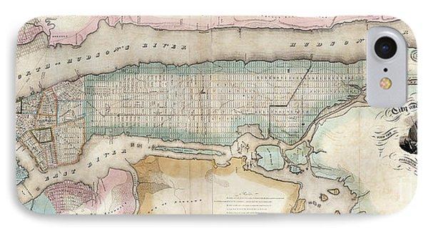 1852 New York City Map IPhone Case