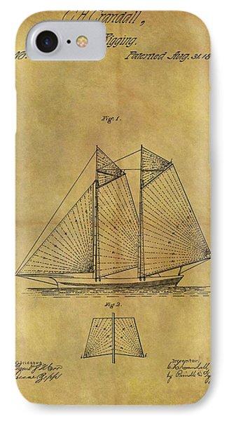 1869 Sailing Ship Patent IPhone Case