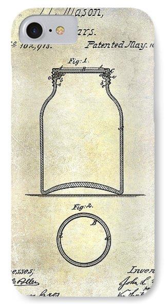 1870 Mason Jar Patent IPhone Case