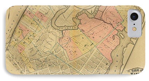 1879 Inwood Map  IPhone Case
