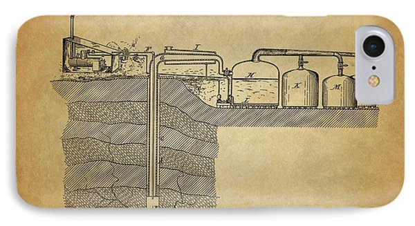 1886 Oil Well Patent IPhone Case