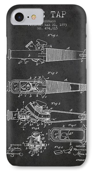 1893 Ale Tap Patent - Charcoal IPhone Case