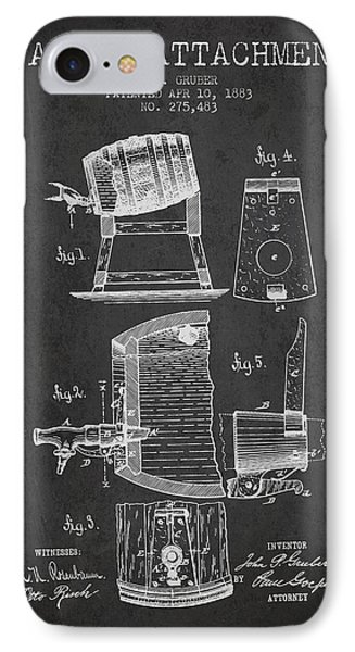 1893 Faucet Attachment Patent - Charcoal IPhone Case