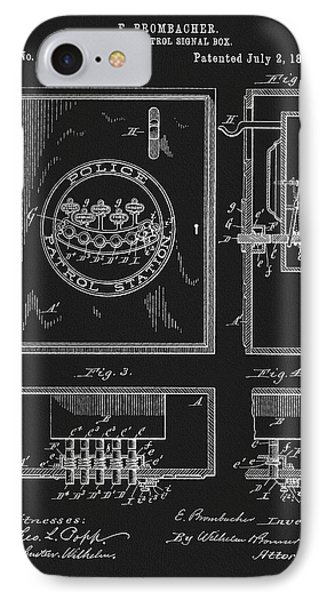 1895 Police Patrol Box Patent IPhone Case