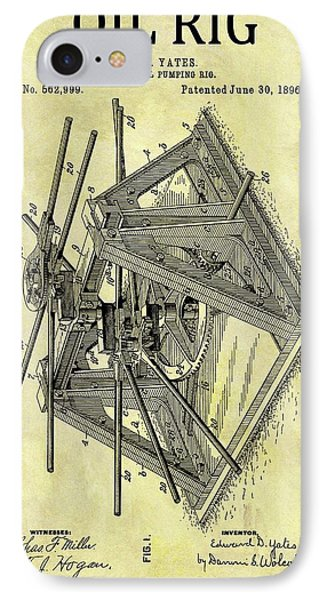 1896 Oil Rig Illustration IPhone Case
