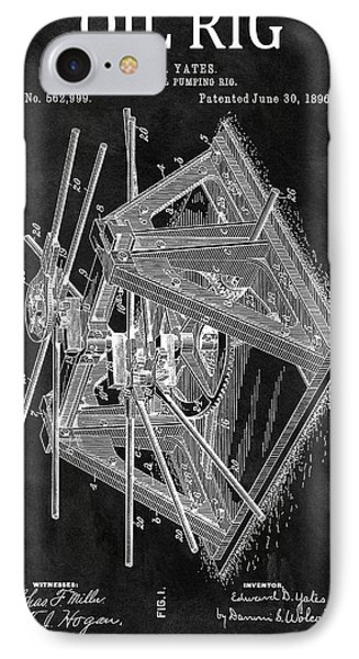 1896 Oil Rig Patent IPhone Case