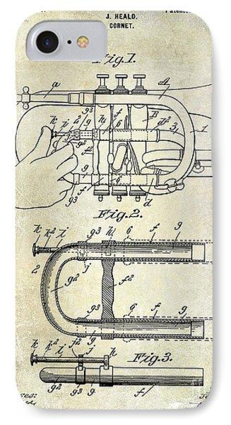 1899 Cornet Patent IPhone Case