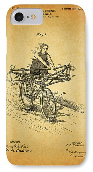 1900 Bicycle Patent IPhone Case