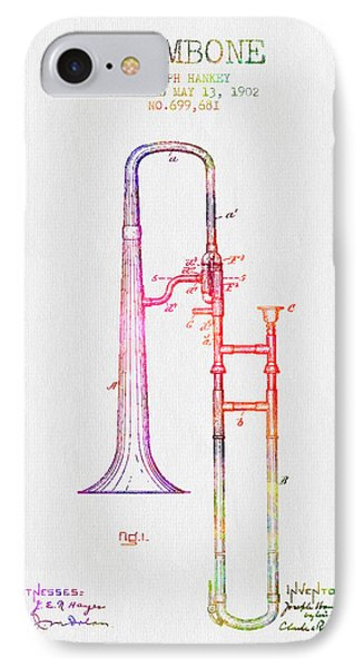 1902 Trombone Patent - Color IPhone Case