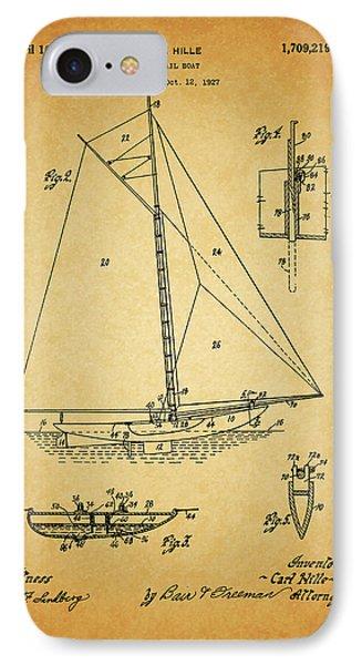 1929 Sailboat Patent IPhone Case