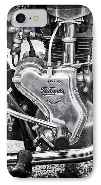 1936 Velocette Mov 250cc Motorcycle Engine IPhone Case
