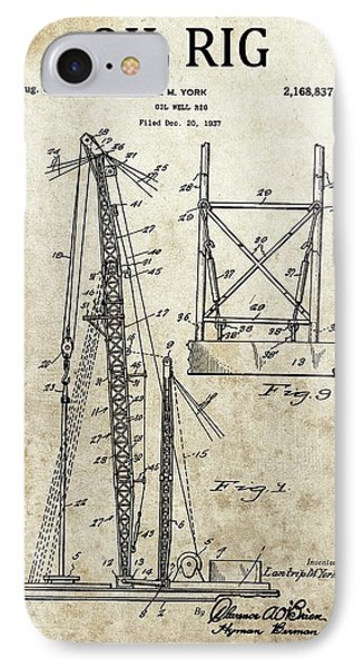 1939 Oil Rig Patent IPhone Case