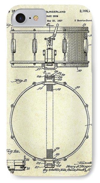 1939 Slingerland Snare Drum Patent S1 IPhone Case