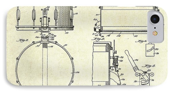 1939 Slingerland Snare Drum Patent Sheets IPhone Case
