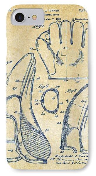 1941 Baseball Glove Patent - Vintage IPhone Case