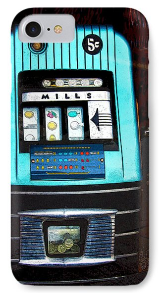 1945 Mills High Top 5 Cent Nickel Slot Machine IPhone Case