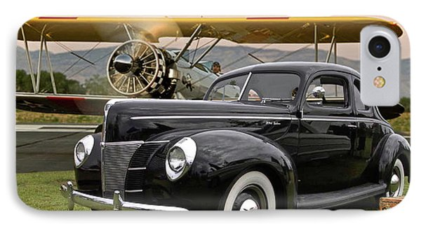 1949 Ford Coupe, Boeing - Stearman Biplane, The Most Interesting Man In The World ' Opening Scene  IPhone Case