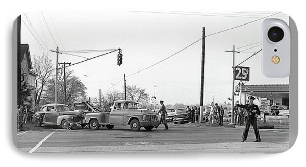 1957 Car Accident IPhone Case