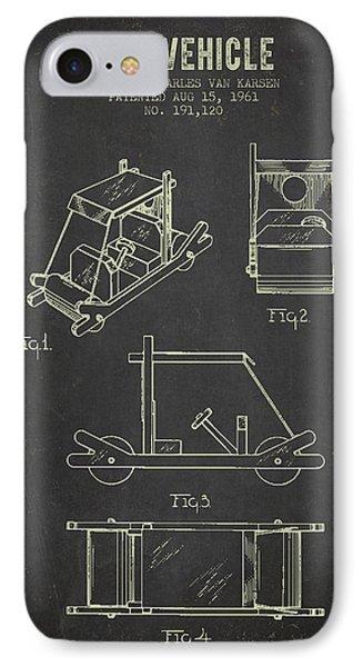 1961 Toy Vehicle Patent - Dark Grunge IPhone Case