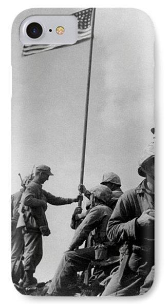 1st Flag Raising On Iwo Jima  IPhone Case