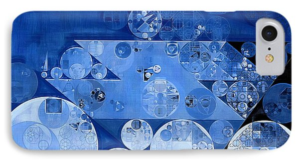 Abstract Painting - Havelock Blue IPhone Case