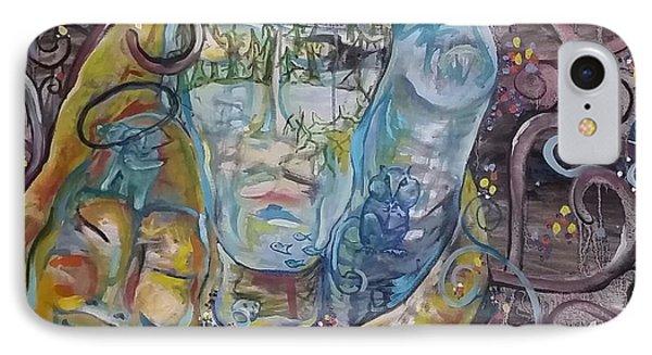 2 Angels Hugging Environmental Warrior Goddess IPhone Case