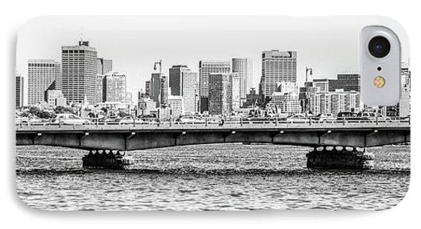 Boston Skyline Black And White Panorama Photo IPhone Case