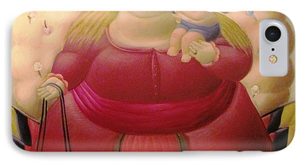 Botero Woman And Child IPhone Case