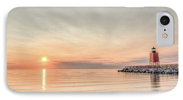 Charelvoix Lighthouse In Charlevoix, Michigan IPhone Case