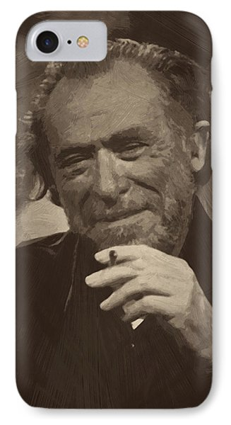 Charles Bukowski 2 IPhone Case