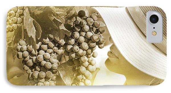 Farmer Checking Grapes IPhone Case
