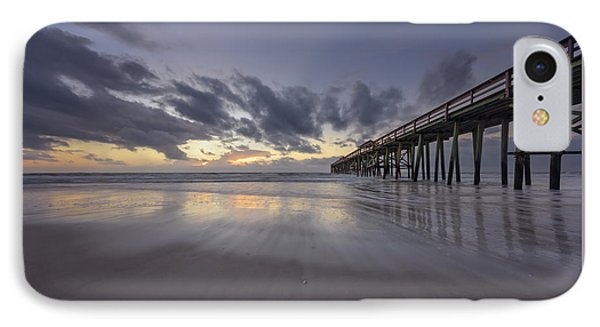 IPhone Case featuring the photograph Fernandina Beach Pier by Peter Lakomy
